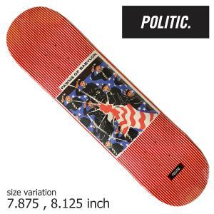 POLITIC Pawns of Babylon 7.875 8.125 inch ポリティック スケートボード デッキ スケボー ストリート|crass