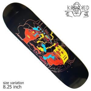 KROOKED RONNIE SANDOVAL AZTECA SHAPED DECK 8.25 inch デッキ スケートボード スケボー クルキッド ストリート sk8|crass
