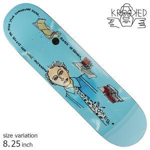 KROOKED MANDERSONE ELSEHWERE BLUE 8.25 inch デッキ スケートボード スケボー クルキッド ストリート sk8|crass