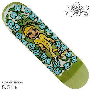 KROOKED GONZ SWEATPANTS GREEN 8.5 inch デッキ スケートボード スケボー クルキッド ストリート sk8|crass