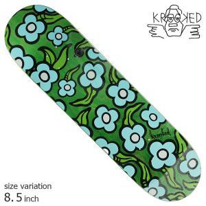 KROOKED WILDSTYLE FLOWERS GREEN 8.5 inch デッキ スケートボード スケボー クルキッド ストリート sk8|crass