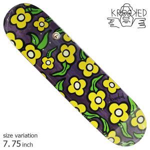 KROOKED WILDSTYLE FLOWERS PURPLE 7.75 inch デッキ スケートボード スケボー クルキッド ストリート sk8|crass