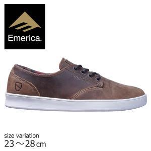 エメリカ スニーカー emerica ROMERO LACED ESWIC スケート シューズ メンズ レディース 24 25 26 26.5 27 BROWN WHITE 靴 スケシュー スケートボード 茶 白|crass