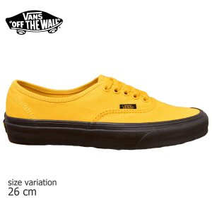 VANS スニーカー AUTHENTIC オーセンティック オールドスクール old skool バンズ BLK yellow スケボー メンズ スケシュー SK8 靴 crass