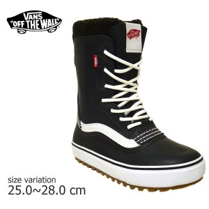 VANS スニーカー SNOW BOOTS STANDARD スノー ブーツ オールドスクール old skool BLACK WHITE バンズ スケボー スケシュー SK8 靴|crass