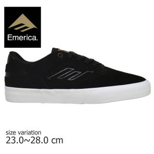 EMERICA スニーカー エメリカ REYNOLDS LOW VULC レイノルズ スケート シューズ メンズ レディース BLACK 黒 靴 スケートボード|crass