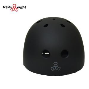 TRIPLE EIGHT ヘルメット HELMET RUBBER プロテクター トリプルエイト スケートボード キッズ ジュニア 黒 エクストリーム|crass