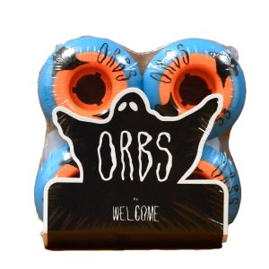 ORBS Wheel オーブス ウィール WELCOME skateboards ウェルカム POLTERGEISTS 102A SK8 Blue Orange ブルー オレンジ スケート スケートボード スケボー プロ|crass