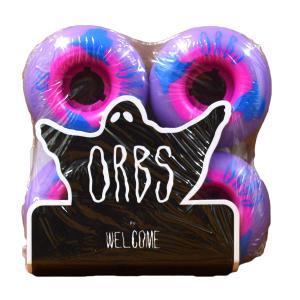 ORBS Wheel オーブス ウィール WELCOME skateboards ウェルカム POLTERGEISTS 102A SK8 Purple Pink パープル ピンク スケート スケートボード スケボー プロ|crass