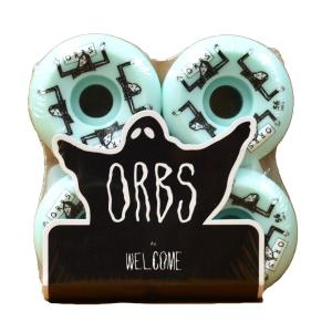 ORBS Wheel オーブス ウィール WELCOME skateboards ウェルカム FANTASMAS 100A SK8 Light Teal ライト テール スケート スケートボード スケボー プロ|crass