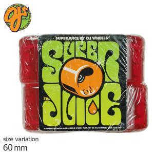 OJ SUPER JUICE 78A 60mm Trans RED ウィール スーパージュース ソフトウィール クルージング クルーザー パーツ スケートボード スケボー 街乗り|crass