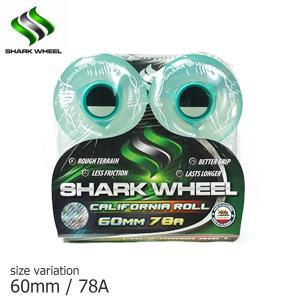 SHARK WHEEL CALIFORNIAROLL CLEAR × Mint hub 60mm 78A wheel ウィール クルーザー スケボー スケートボード シャーク 波型|crass