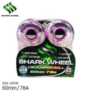 SHARK WHEEL CALIFORNIAROLL CLEAR×Purple hub 60mm 78A wheel ウィール クルーザー スケボー スケートボード シャーク 波型|crass