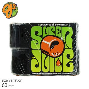 OJ SUPER JUICE 78A 60mm BLACK ウィール スーパージュース ソフトウィール クルージング クルーザー パーツ スケートボード スケボー 街乗り|crass