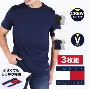 トミーヒルフィガー TOMMY HILFIGER クルーネック 半袖 Tシャツ メンズ 3枚組セット Classic|crazyferret