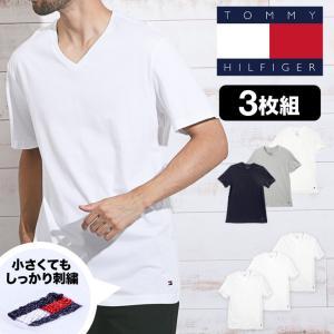 トミーヒルフィガー TOMMY HILFIGER Vネック 半袖 Tシャツ メンズ 3枚組セット Classic Fit|crazyferret