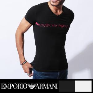 エンポリオアルマーニ Tシャツ メンズ 半袖 Vネック EMPORIO ARMANI|crazyferret