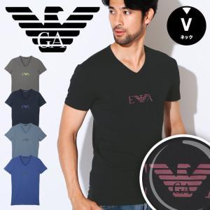 エンポリオアルマーニ Tシャツ 半袖 メンズ Vネック FRONTOLOGO EMPORIO ARMANI|crazyferret