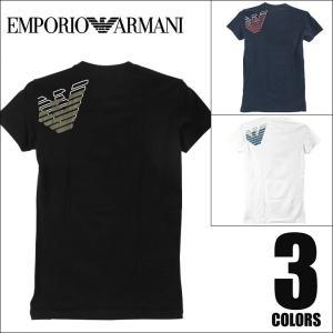 EMPORIO ARMANI エンポリオアルマーニ EAGLE STRETCH COTTON Vネック Tシャツ 半袖 メンズ