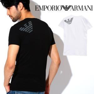エンポリオアルマーニ Tシャツ メンズ Vネック 半袖 BIG EAGLE EMPORIO ARMANI|crazyferret