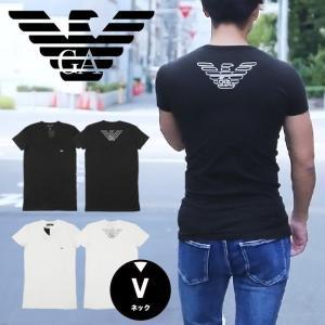 エンポリオ アルマーニ Tシャツ メンズ 半袖 Vネック E...