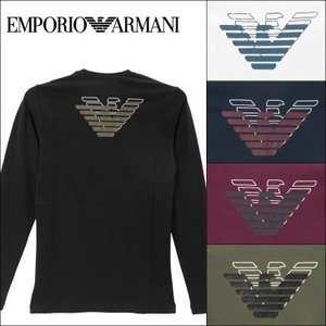 エンポリオアルマーニ EMPORIO ARMANI クルーネック ロンT メンズ 長袖 ATHLETICS BIG EAGLE 2018|crazyferret
