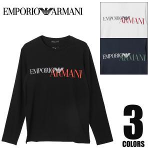 エンポリオアルマーニ ロンT メンズ MEGALOGO EMPORIO ARMANI|crazyferret