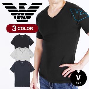 エンポリオアルマーニ Tシャツ メンズ Vネック 半袖 EMPORIO ARMANI|crazyferret