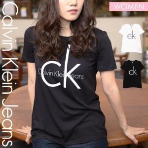 カルバンクライン 半袖 Tシャツ Uネック レディース CKロゴ  Calvin Klein|crazyferret