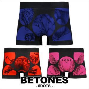 ビトーンズ ボクサーパンツ フリーサイズ メンズ BETONES 5DOTS|crazyferret