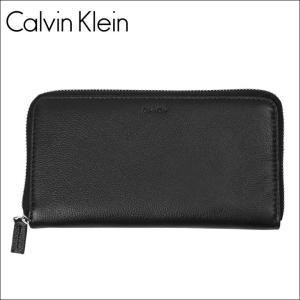 カルバンクライン 長財布 ラウンドジップ メンズ エンボス Calvin Klein|crazyferret