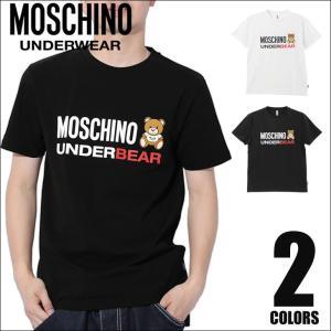 モスキーノ MOSCHINO Tシャツ メンズ 半袖 クルーネック UNDERBEAR|crazyferret