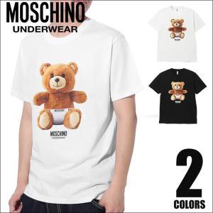 モスキーノ MOSCHINO Tシャツ メンズ 半袖 クルーネック TEDDYBEAR|crazyferret