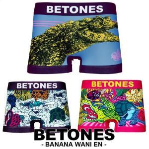 ビトーンズ ボクサーパンツ メンズ フリーサイズ BETONES BANANA WANI EN バナナワニ園|crazyferret