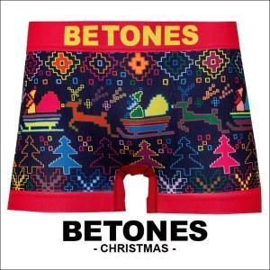 ビトーンズ ボクサーパンツ メンズ フリーサイズ BETONES CHRISTMAS|crazyferret