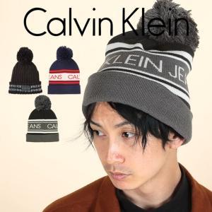 カルバンクライン ニット帽 メンズ Calvin Klein Jeans LOGO CK|crazyferret