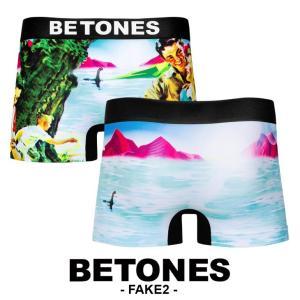 ビトーンズ ボクサーパンツ メンズ フリーサイズ フェイク2 FAKE2 BETONES|crazyferret