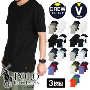 ラルフローレン Tシャツ 3枚セット 半袖 無地 クルーネック メンズ POLO ポロ|crazyferret