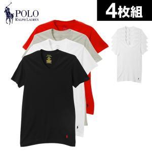 ポロラルフローレン Tシャツ メンズ 半袖 Vネック 4枚組セット POLO RALPH LAUREN|crazyferret