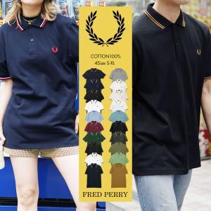 フレッドペリー ポロシャツ メンズ 半袖 ゴルフ ティップライン ブランド グレー ロゴ m3600...
