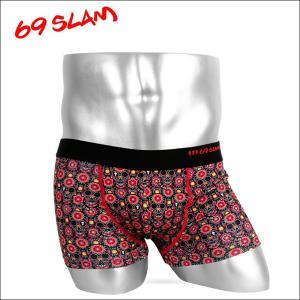 69SLAM ボクサーパンツ メンズ FLOWER SKULL 69スラム|crazyferret