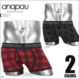 アナパウ anapau ボクサーパンツ メンズ スマイルチェック|crazyferret