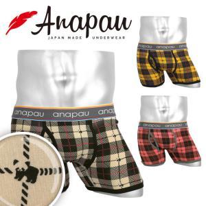 アナパウ anapau ボクサーパンツ メンズ レッサ―パンダチェック|crazyferret