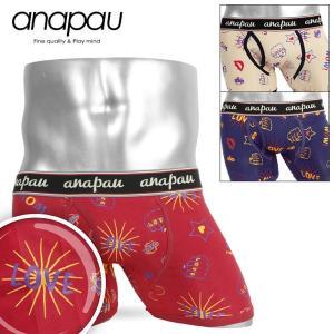 anapau ボクサーパンツ メンズ 前開き ラブポップアート LOVE POP ART アナパウ|crazyferret