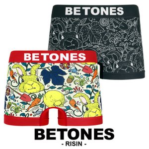 BETONES ボクサーパンツ メンズ RISIN 食いしん坊うさぎ ビトーンズ|crazyferret