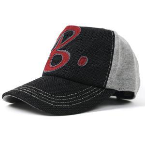 大きいサイズ 帽子 キャップ ヘンプコットン ワッペンキャップ  ブラック グレー BIGWATCH キャップ BIGWATCH