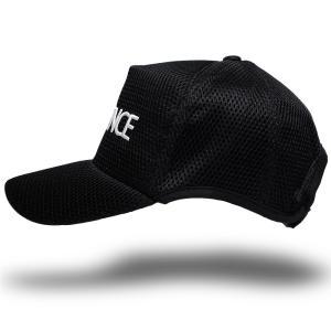大きいサイズ 帽子 ゴルフ スポーツキャップ ラウンドメッシュキャップ  ブラック  ダメージ加工無し|creak-net