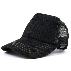 帽子 メンズ 大きいサイズ 無地 ヘンプキャップ BIGWATCH 黒 creak-net