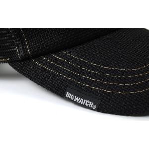 帽子 メンズ 大きいサイズ 無地 ヘンプキャップ BIGWATCH 黒 creak-net 05