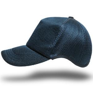帽子 メンズ 大きいサイズ 無地 ラウンドメッシュキャップ BIGWATCH スレートブルー 青|creak-net